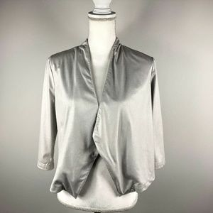BB Dakota Womens S Silver Open Front Cardigan Vest